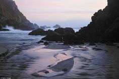 Big Pur-ple: Secluded Pfeiffer Beach in California's Big Sur region has purple sand, which gets its colour from mineral deposits in the soil