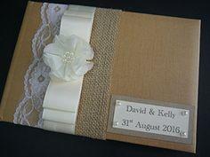 Wedding Guest Book, Vintage, Satin Ribbon, lace, hession ... https://www.amazon.co.uk/dp/B01LYI4WG0/ref=cm_sw_r_pi_dp_x_5ep7xb78XGFN6