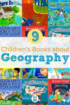 9 Children's Books about Geography Have you read books about geography with your kids? Help your child learn about their world, the differences between cities and states, and how to read a map with these 9 children's books about geography. Geography For Kids, Geography Activities, Teaching Geography, World Geography, Sequencing Activities, Dinosaur Activities, Social Studies Book, Teaching Social Studies, Author Studies