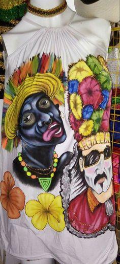 Pintado a mano carnaval de Barranquilla, Colombia. Coral, Elsa, Fictional Characters, Ideas, Joy, Dress, Creativity, Colors, Pointillism
