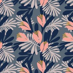 Pattern and Design. Learn to create surface pattern designs Textiles, Textile Patterns, Textile Prints, Print Patterns, Floral Prints, Art Prints, Block Prints, Flower Pattern Design, Surface Pattern Design
