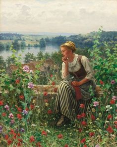 Normandy Girl Seating in a Garden by Daniel Ridgway Knight | Art Posters & Prints Raindrops And Roses, Knight Art, American Artists, Art Reproductions, Female Art, Poster Prints, Art Posters, Art Photography, Fine Art Prints
