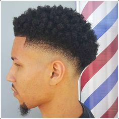 afro taper fade haircut black