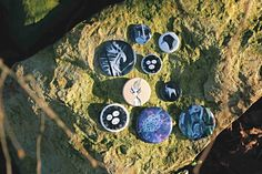 Illustrated buttons by Nesting Spirits