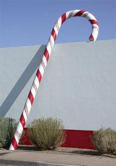 Giant Candy Cane at Buffett's Candies, in Albuquerque, NM