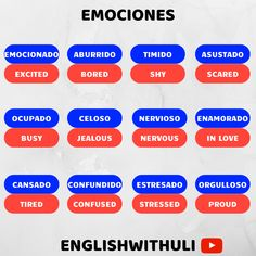 English Today, Spanish English, Spanish Words, English Tips, How To Speak Spanish, English Lessons, English Vocabulary Words, Learn English Words, English Phrases