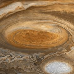 Eye of the storm: detail from Björn Jónsson's mosaic of Jupiter's Great Red Spot from Voyager 1 data.