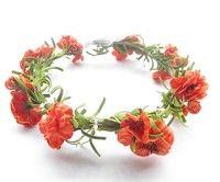 Wish   Woodland floral crown headband for wedding bridal 16-17cm props headdress decoration