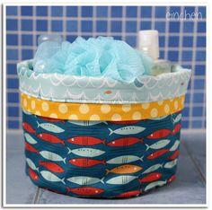 stoffkörbchen fürs bad