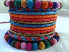 Silk Thread Bangles Design, Silk Bangles, Silk Thread Earrings, Thread Jewellery, Lace Jewelry, Fabric Jewelry, Flower Jewelry, Jewelery, Diy Fashion Hacks