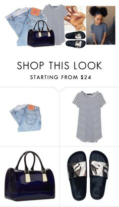 """Don't really like this😩😕"" by wavyjai ❤ liked on Polyvore featuring Levi's and Furla"