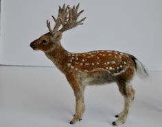 needle+felted+animals | Needle Felted Animal. English fallow deer .Made by darialvovsky