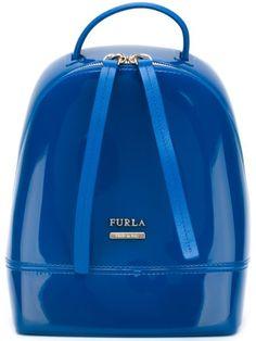 FURLA Mini 'Candy' Backpack. #furla #bags #leather #pvc #backpacks #polyester #