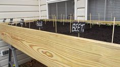 recycled doors to make raised beds