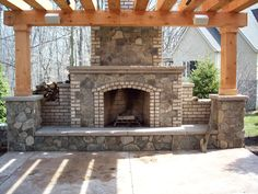 Natural Stone Outdoor Fireplaces Pictures | Outdoor Fireplace
