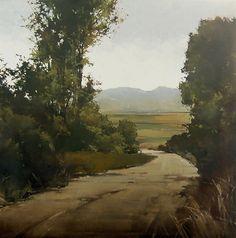 """Dusty Bend ($15,000) by Joseph Alleman Oil ~ 42"""" x 42"""""""