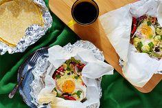 Breakfast Taco Hobo Packs with Black Beans, Zucchini, and Corn recipe