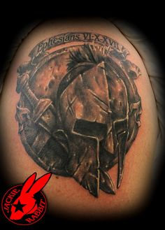spartan warrior tattoo by Jackie Rabbit by Star City Tattoo & Body Piercings, via Flickr