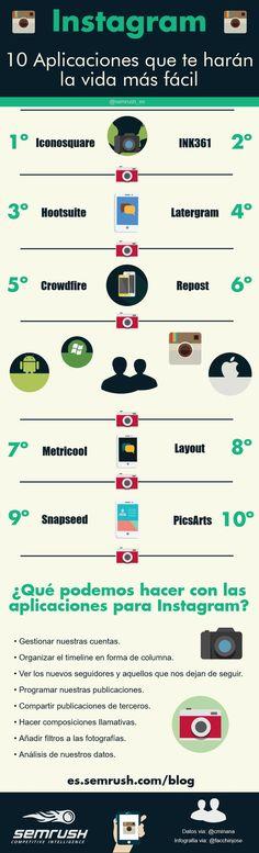 10 Aplicaciones para Instagram que deberías probar #infografia #infografias #infographic