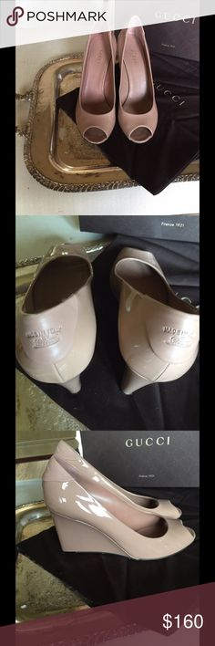 Beautiful nude Gucci wedges size 9.5 Beautiful nude Gucci wedges size 9.5 Gucci Shoes Wedges
