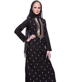 black and gold jilbab