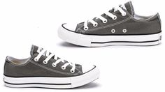 0c62ae64c1df Converse MEN S CHUCK TAYLOR ALL STAR LOW Charcoal Grey Canvas 1J794