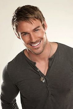 Jesse Pavelka...Christian Grey??? There is that floppy copperish hair, grey eyes, and boyish grin!!!