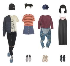 """""""mlbrn art kds"""" by justasatellite ❤ liked on Polyvore featuring Topshop, Patagonia, Vans, ASOS, Obesity and Speed, Converse, adidas Originals, Charlotte Russe, Monki and nabisqaud"""