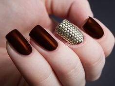 30 Fotos de uñas decoradas con color marrón – brown nails | Decoración de Uñas - Manicura y NailArt