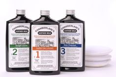 Leather Milk Leather Cleaner, Conditioner & Protector SET   Liniment No. 1 - Cleaner No. 2 - Protectant No. 3   8 oz Chamberlain's Leather Milk http://www.amazon.com/dp/B008UAATDA/ref=cm_sw_r_pi_dp_wJz.wb0H3XEN2
