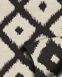 black and off-white ikat fabric; can't get enough Ikat right now!