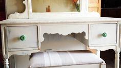 Vanity  and bench seat Upcycle Makeover by Queen Bee!