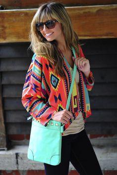 Cute Aztec top and bag