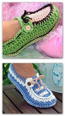 Нарядные туфельки, связанные крючком — Рукоделие