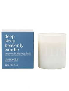 for that soothing pre-bed bath... sleep heavenly candle