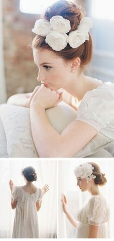 Beautiful with gorgeous Headpieces from Erica Elizabeth Designs, photos: Caroline Tran Wedding Headband, Wedding Images, Wedding Styles, Hair Arrange, Floral Headpiece, Bridal Headpieces, Fascinators, Floral Hair, Wedding Beauty