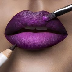 Today's #LipOfTheDay is 'Hoochie' #LipTar lined with 'Black Dahlia' OCC Pencil.