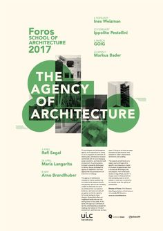 Get Lectured UIC Barcelona Foros 2017 Poster courtesy of UIC Barcelona School of Architecture Archinect Design De Configuration, Poster Design Layout, Event Poster Design, Creative Poster Design, Creative Posters, Graphic Design Posters, Graphic Design Inspiration, Flyer Design, Poster Designs