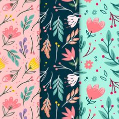 Art Floral, Floral Flowers, Textile Pattern Design, Pottery Painting Designs, Fabric Stamping, Posca, Floral Illustrations, Art Design, Art Lessons