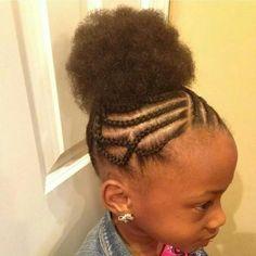buns puffs natural hairstyles little girls