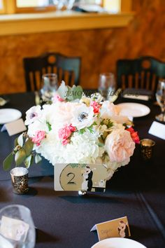 I LOVE this. Love the colors, love the flowers for my centerpieces