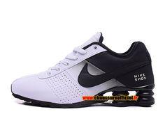 Nike Shox Deliver Chaussures Nike Officiel Pas Cher Pour Homme Noir / Blanc