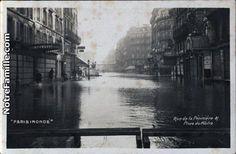 OTH 755 - Rue de la Pépinière en 1910 lors des inondations.