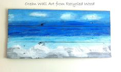 Ocean Wall Art from Recycled Wood
