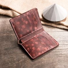 Leather Wallet Pattern, Handmade Leather Wallet, Leather Bifold Wallet, Billfold Wallet, Clutch Wallet, Brown Leather Purses, Leather Bags, Leather Accessories, Leather Jewelry
