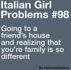 So true. My friend's family is pretty quiet, doesn't cook, and is not that…