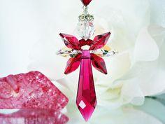 2014 DIY Ornaments Ideas - Crystal Angel Suncatcher Car Mirror Hanger