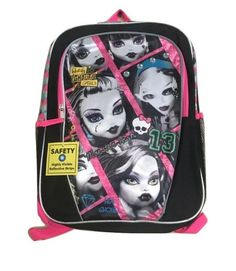 818e977f3cf7 Details about Monster High Book Bag Girls Large 16