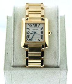 Cartier Tank Francaise 18kt Men's Full Size Watch