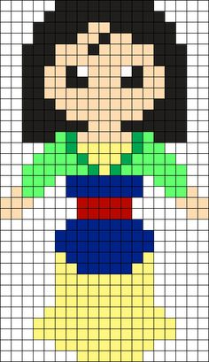 MINECRAFT PIXEL ART – One of the most convenient methods to obtain your imaginative juices flowing in Minecraft is pixel art. Pixel art makes use of various blocks in Minecraft to develop pic… Kandi Patterns, Pearler Bead Patterns, Perler Patterns, Beading Patterns, Perler Bead Disney, Perler Bead Art, Perler Beads, Beaded Cross Stitch, Cross Stitch Embroidery